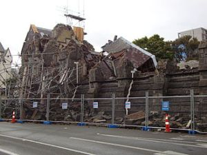 The Stone Chamber of the Canterbury Provincial Council Buildings post 2011 earthquake.