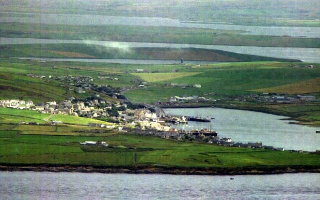 Stromness and Hamnavoe taken from Ward Hill on Hoy