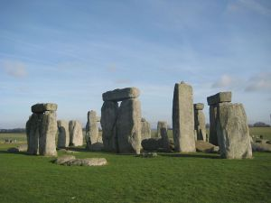 'Stonehenge' The stones leaning on the fact they each is there