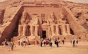 The four colossi, statues of Ramses II (aka Ozymandias) 1290-1224 BC are more than 20 meters high and about 4 meters from ear to ear.