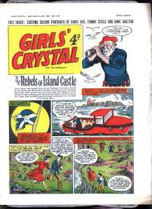 Girls Crystal - a comic for schoolgirls produced in the UK and exported to the colonies