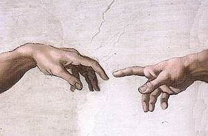 Hands of God and Adam Sistine Chapel, fresco Michelangelo