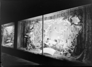 Christmas window display, James Smith Ltd., Wellington, 1952, photographed by K E Niven and Co of Wellington.