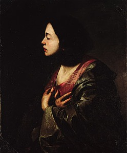 The Virigin Anunciate by Bernardo Cavallino