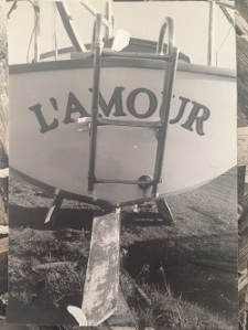 Photo of a Photo:The Boat L'Amour at Waitapu Wharf by Emma