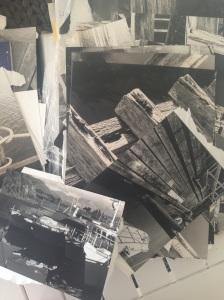 Photo of a photo: Waitapu Wharf collage by Emma