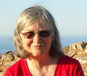 "Barbara under the Cretan skies, on a visit to a Minoan site, ""Chamezi Minoan House"" near Sitia, on the NE coast of Crete, 2014."