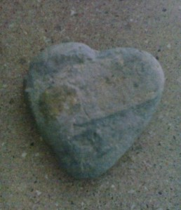 a heart shaped stone found on my local beach Photo (c) H McKinlay