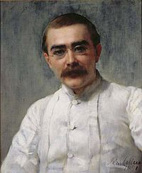 A portrait of Kipling painted by Collier in 1891
