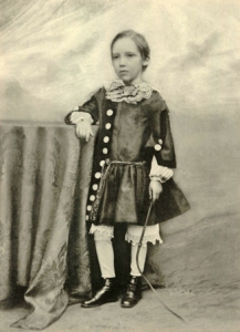 Robert Louis Stevenson as a child