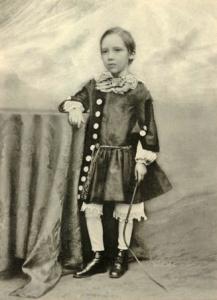 Robert Louis Stevenson as a child